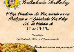 Delícia! 1ª Galinhada DeMolay acontece neste domingo em São Gotardo