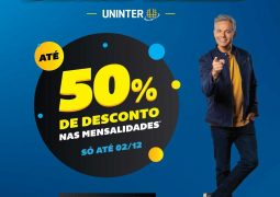 Com descontos de até 50% na mensalidade, Uninter lança BLACK WEEK em São Gotardo