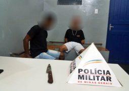 Denúncia anônima contribui para PM prender dois homens suspeitos de Tráfico de Drogas em Guarda dos Ferreiros