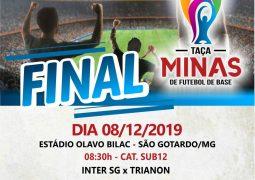 Inter SG se classifica com melhor aproveitamento em todas as categorias da Taça Minas de Futebol de Base e decide finais neste domingo em São Gotardo