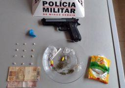Homens são presos em Tiros-MG pelos crimes de tráfico de drogas e posse ilegal de armas