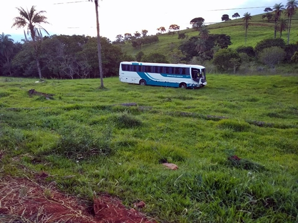 Ônibus seguia sentido Tiros/São Gotardo (Foto: Tirense Notícias)