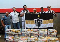 GALÃO DA MASSA! Torcida do Atlético realiza doações de cestas básicas para famílias carentes São-Gotardenses