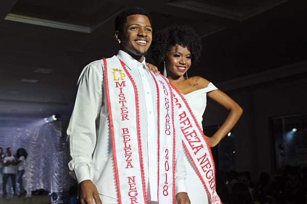 Miss e Mister Beleza Negra eleitos no ano de 2018 (Foto: SG AGORA)