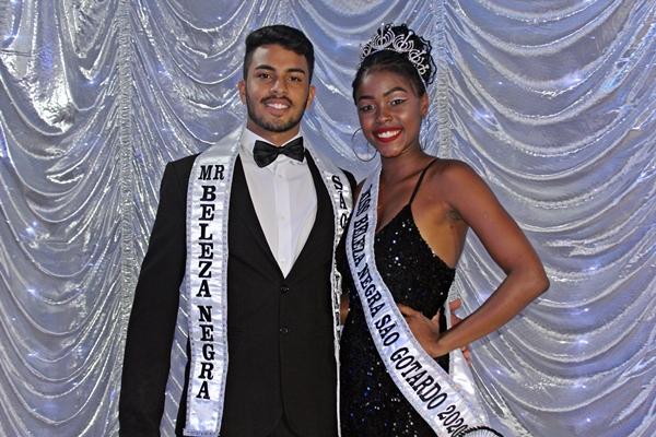 Novos Miss e Mister Beleza Negra de São Gotardo (Foto: SG AGORA)