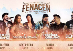 Possível grade shows da Fenacen 2020 vaza na internet. Sindicato confirma shows