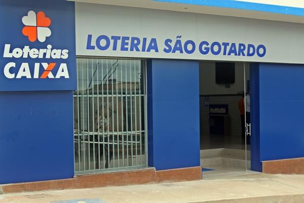 Loteria São Gotardo está agora situada próxima a Caixa Econômica Federal (Foto: SG AGORA)