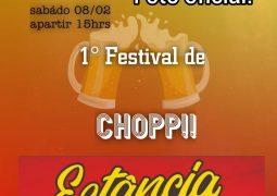 É hoje! 1º Festival de Chopp Estância acontece neste sábado em São Gotardo
