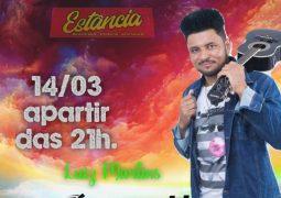Sertanejou! Luiz Martins agita Restaurante, Choperia e Espetaria Estância neste sábado em São Gotardo