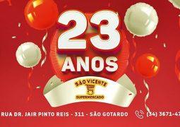No mês de seu aniversário, Supermercado São Vicente traz ofertas imperdíveis para São Gotardo e Região