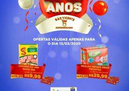 Em celebração aos seus 23 anos, Supermercado São Vicente lança promoção especial nesta sexta-feira em São Gotardo