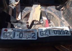 """Veículo furtado em São Gotardo é localizado pela PM em """"desmanche"""" em Patrocínio"""