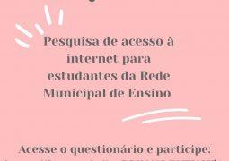 Secretaria Municipal de Educação realiza pesquisa para apurar possibilidade de aulas online em São Gotardo