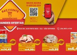 Filé de Peito Desfiado Sadia à 6,49 (400 GR) e Arroz Codil 5Kg à 14,49: Confira o Caderno de Ofertas do Supermercado São Vicente neste mês de Maio em São Gotardo