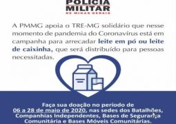 AJUDE A DIVULGAR: PM de São Gotardo pede ajuda para campanha de doação de leite em pó para comunidades e entidades carentes de nossa região