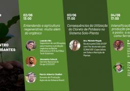 Verde AgriTech convida doutora em Solos e Nutrição de Plantas para explicar os impactos do cloreto de potássio nas lavouras e grandes nomes para eventos desta semana