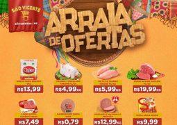 """""""Ô trem bão sô"""": Confira o Arraial de Ofertas do Supermercado São Vicente neste mês de Junho em São Gotardo"""
