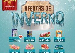 Preços congelados! Confira o Caderno Inverno de Ofertas do Supermercado São Vicente em São Gotardo