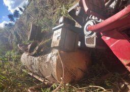 Caminhão carregado com Leite tomba e deixa uma vítima fatal na MG-235 em São Gotardo