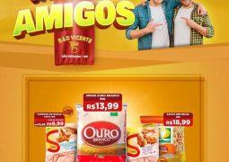 Em comemoração ao Dia do Amigo, Supermercado São Vicente lança novo caderno de ofertas em São Gotardo