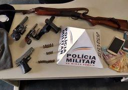 PM prende autores de roubo em fazenda no município de São Gotardo
