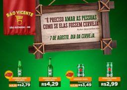 Dia da Cerveja em São Gotardo: Supermercado São Vicente lança caderno de ofertas exclusivo para esta sexta-feira