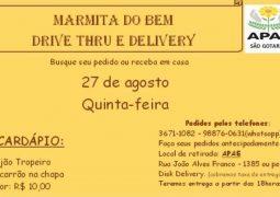 """Apae promove """"Marmita do Bem"""" nesta quinta-feira em São Gotardo"""