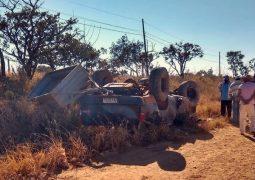 Grave acidente envolvendo pelo menos três veículos é registrado na MG-235 em São Gotardo