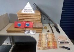 Homem de São Gotardo é preso com grande quantidade de drogas em Rio Paranaíba