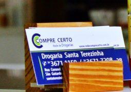 Com novo número de WhatsApp, Drogaria Santa Terezinha, sua farmácia de plantão em São Gotardo