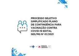 Governo de Minas Gerais abre vagas de atuação no plano de vacinação contra o Covid-19