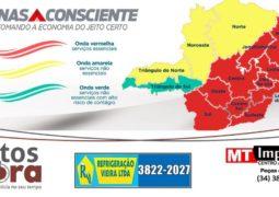 Macrorregião Noroeste, a qual São Gotardo pertence, regride para onda amarela no Programa Minas Consciente