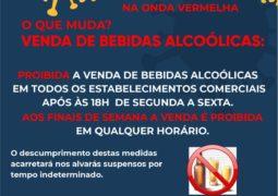 Decreto Emergencial: Venda de bebidas alcoólicas é proibida em São Gotardo após as 18:00 horas e nos finais de semana
