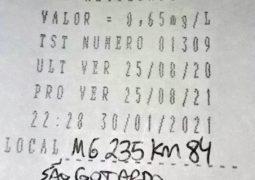 Motorista de 54 anos é preso por dirigir sob efeito de álcool e inabilitado na MG-235 em São Gotardo