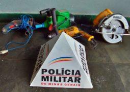 PM recupera itens furtados e 3 pessoas são presas por receptação em São Gotardo