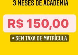 Sem desculpas para entrar na Academia! Performance lança promoção de planos trimestrais a partir de 150 reais em São Gotardo