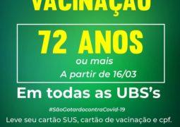 Idosos com idade a partir de 72 anos começam a ser vacinados contra  Covid-19 nesta terça-feira em São Gotardo