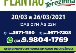 Farmácias de plantão em São Gotardo. Drogaria Santa Terezinha é uma delas!