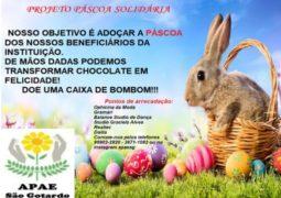 PÁSCOA: Apae lança campanha de arrecadação de caixas de bombons para alunos da instituição de São Gotardo