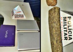 Trabalho intenso na madrugada: PM realiza prisões por furto e tráfico de drogas em São Gotardo
