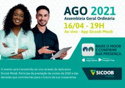De forma online, 21º Assembleia Geral do Sicoob Credisg acontece nesta próxima sexta-feira