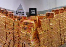 Mais de mil caixas de chocolates são recuperadas em Campos Altos após carreta ser saqueada em Ibiá