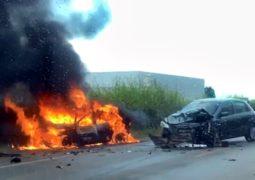 ATUALIZADA: Condutor fica gravemente ferido em acidente com veículo incendiado na BR-354 em Guarda dos Ferreiros