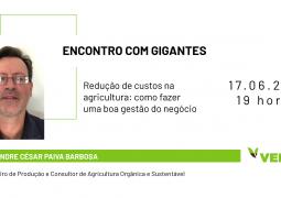 ENCONTRO COM GIGANTES: Aprenda estratégias para reduzir custos na agricultura