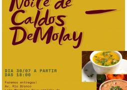 Ordem DeMolay de São Gotardo realiza Noite de Caldos nesta sexta-feira!