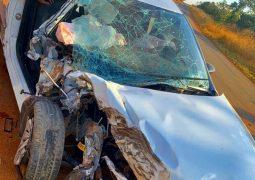 Acidente envolvendo caminhão e picape é registrado em estrada vicinal entre Abaeté dos Venâncios e São Gotardo