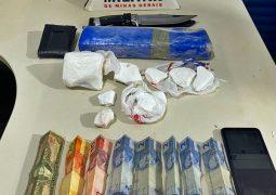 Polícia Militar de São Gotardo faz apreensão de drogas na BR-354