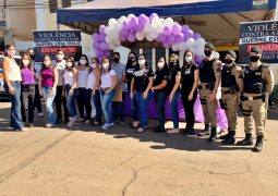 AGOSTO LILÁS: Secretaria de Assistência Social, PC e PM realizam campanha educativa de conscientização em São Gotardo