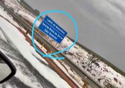 Nevou? Tempestade de granizo assusta e surpreende moradores da zona rural de São Gotardo e Santa Rosa da Serra no fim de semana