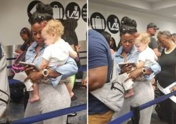 "Mãe se emociona após estranha ajudá-la a acalmar a filha: ""Anjo da vida real"""